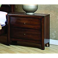 Coaster Home Furnishings 200642 Casual Contemporary Nightstand, Walnut