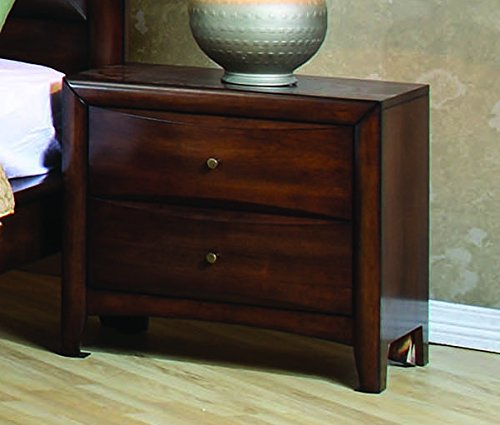 Coaster Home Furnishings 200642 CO-200642 Hillary 2-Drawer Nightstand, Warm Brown