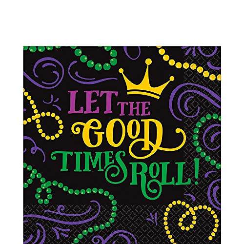 Mardi Gras Napkins (Good Times Mardi Gras 125 Ct Luncheon Napkins Value)
