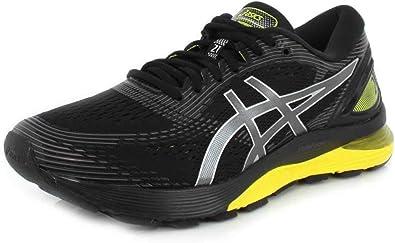 ASICS Gel-Nimbus 21 Platinum - Zapatillas de running para hombre, Negro (Black/Lemon Spark), 44.5 EU: Amazon.es: Zapatos y complementos