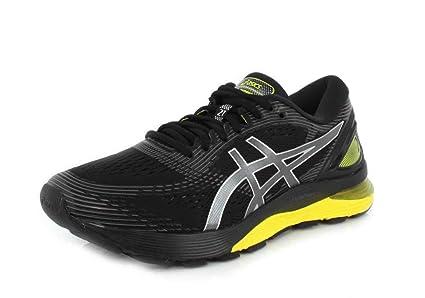 ASICS Herren Gel Nimbus 21 Schuhe, 42 EU, BlackNeon Spark