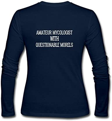 CAL-T Amateur Mycologist with Questionable Morels Mujer Manga Larga Algodón Camiseta: Amazon.es: Ropa y accesorios