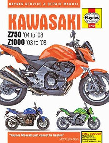 2003-2008 Kawasaki Z750 Z1000 Z1 Z 750 1000 HAYNES REPAIR MANUAL