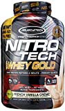 MuscleTech NitroTech Whey Gold, 100% Whey Protein Powder, Whey Isolate and Whey Peptides, Vanilla, 88.4 Oz