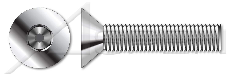 (25 pcs) M12-1.75 X 140mm, DIN 7991 / ISO 10642, Metric, Flat Head Socket Cap Screws, Full Thread, A4 Stainless Steel by ASPEN FASTENERS