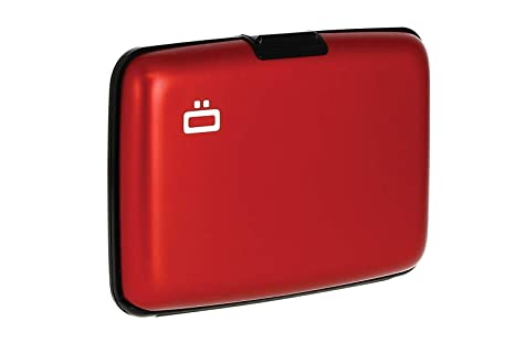Ögon ST-Red Stockholm Cartera Tarjetero de Aluminio Anodizado Rojo