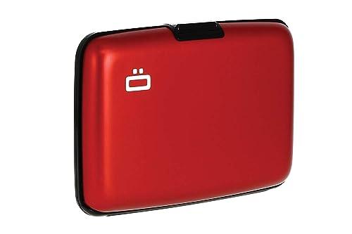 OGON - Cartera para hombre rojo rojo 10.9 (L) x 7.2 (H)