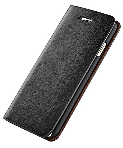 iPhone 7 Case, Apple iPhone 8 Leather Wallet Case with ID Credit Card Slot Money Pouch Business Book Folio Flip Cover (iPhone 7/8(4.7''), Black) by BENIMIL