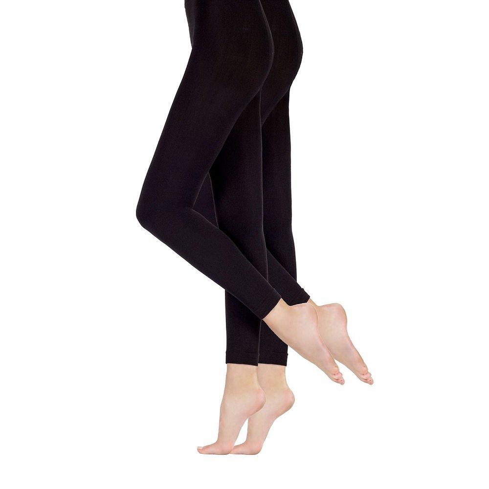 cfae4c895aa0b Amazon.com: Ellen Tracy Essentials 2-Pair Ladies Size L/XL Soft & Cozy  Fleece Tights, Black: Clothing