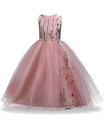 Amazon Fkkfyy Wedding Party Holiday Big Girl Long Dress With