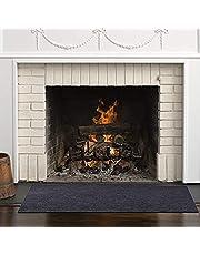 NIxueLILI Fire Retardant Fiberglass Carpet, 3 Sizes Fireplace Floor Protection Mat Non-Slip Professional Polyethylene Flame Resistant, Functional Hearth Rug for Indoor Home Living Room