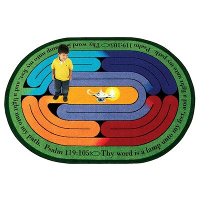Faith Based Pathway of Light Kids Rug Rug Size: Oval 10'9'' x 13'2'' by Joy Carpets