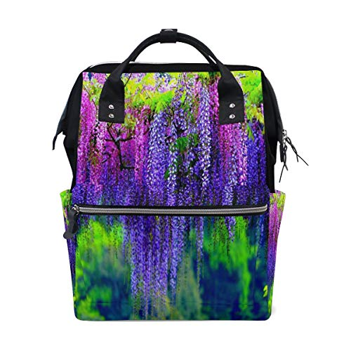 Diaper Bags Wisteria Tree Fashion Mummy Backpack Multi Functions Large Capacity Nappy Bag Nursing Bag for Baby Care for Traveling