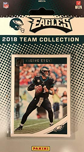 Philadelphia Eagles 2018 Donruss Factory Sealed Complete Mint 12 Team Set with Carson Wentz, Nick Foles, Ron Jaworski, Dallas Goedert Rookie Card plus 2017 Super Bowl Champions