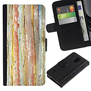 All Phone Most Case / Oferta Especial Cáscara Funda de cuero Monedero Cubierta de proteccion Caso / Wallet Case for Samsung Galaxy S5 V SM-G900 // Abstract Watercolor Pastel Calm Colors