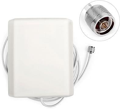 Antena GSM 3G de alta ganancia de pared interior, antena direccional para panel interior de 824-2500MHz para repetidor de repetidor de teléfono móvil ...
