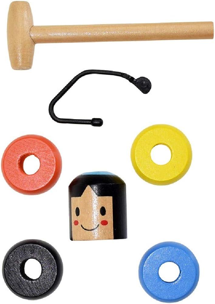 Sarplle Magic Tricks Unbreakable Wooden Man Magic Toy No caigas Magic Magic Props Fun Funny Japanese Toy Gift para ni/ños Halloween Navidad
