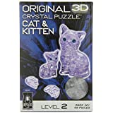 Crystal Puzzle - Cat With Kitten