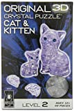 Bepuzzled Original 3D Crystal Puzzle - Cat & Kitten Clear