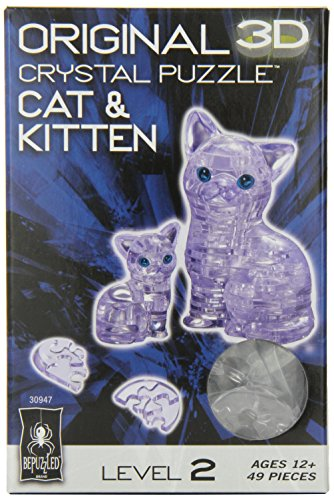 Original 3D Crystal Puzzle - Cat & Kitten Clear ()