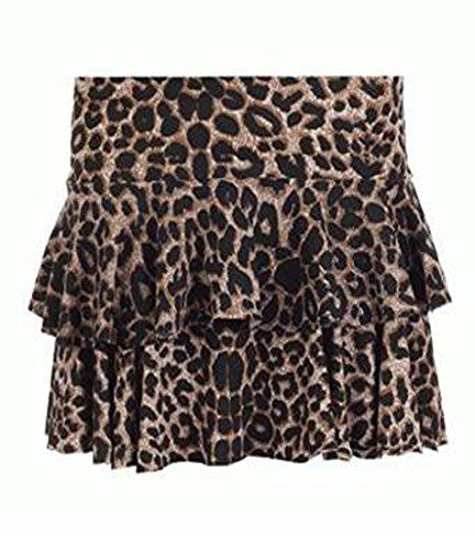 Fashion charming-womens Animal Zebra Leopard Print Mini Rara-Minirock Rock Mehrfarbig - LEOPARD BROWN Cg2Akov
