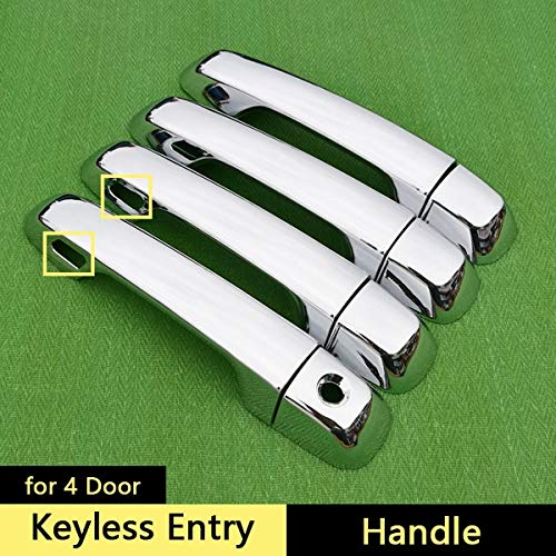 For Toyota 4Runner 2010-2017 Chrome Handle Cover Trim Set For 4 Runner 2011 2012 2013 2014 2015 2016 Accessories Car Styling - (Color Name: Keyless Entry) ()