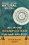 All-In-One Shampoo Bar - For Hair and Body   Rosemary Mint   Non-Drying and Moisturizing, Safe for colored hair, Great for use on Dandruff. Ideal for Travel. Organic. 4.2 OZ - BAR (2 PACK)
