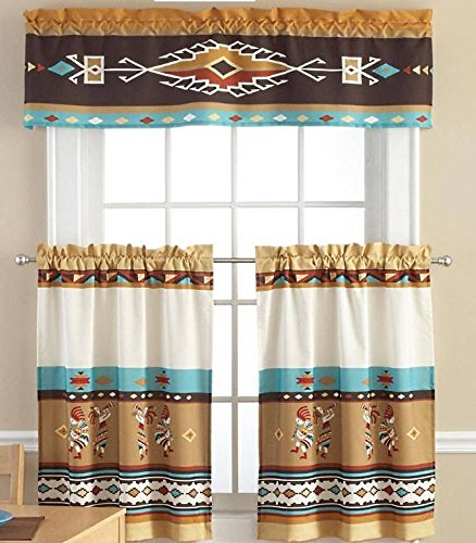 Amazon Kitchen Curtains Discount Store: Kokopelli Kitchen Window Curtain Set 3 Pc
