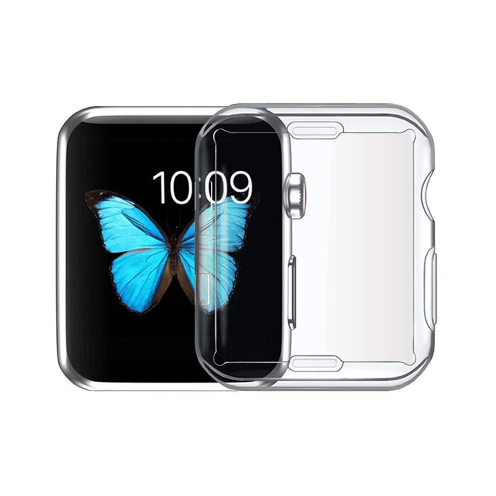 Compatible Apple Watch 3 Case Iphone Tpu Screen Protector All Soft 42mm Crystal Clear Ultra Thin Around Protective High Definition