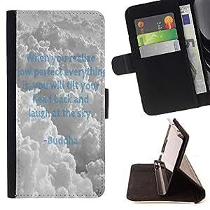 - Buddha - - Monedero PU titular de la tarjeta de cr?dito de cuero cubierta de la caja de la bolsa FOR Samsung Galaxy A3 Retro Candy