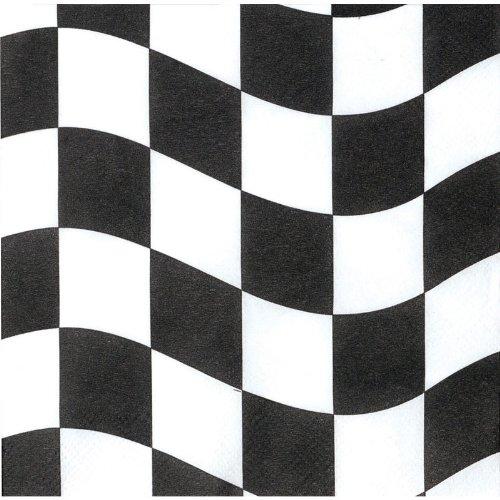 Napkin Black And White Check - 4