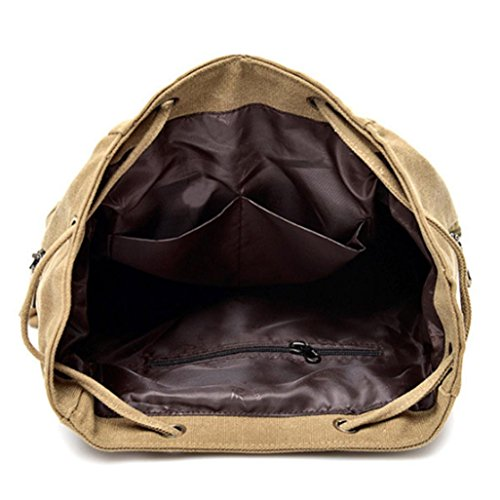 Sonnena - Bolso mochila  de Lona para mujer Rosa rosa caqui