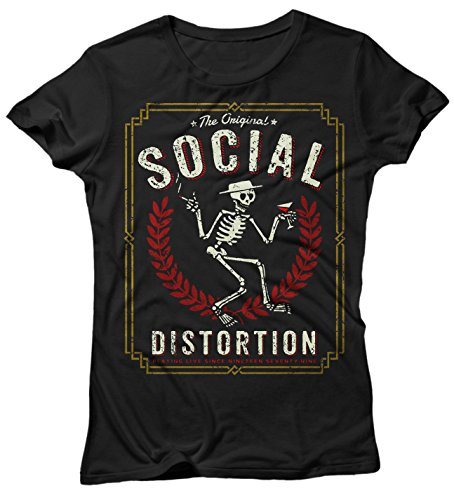 Camiseta Mujer Socia Distortion The Original - Camiseta 100% algodòn LaMAGLIERIA negro