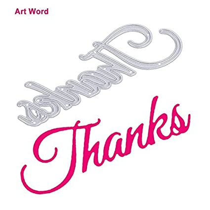 Amazon.com: Whitelotous DIY Art Word Cutting Dies Window Door Frame ...