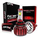 OPT7 Fluxbeam H11 LED Headlight Kit w/ Clear Arc-Beam Bulbs - 60w 7,000Lm 6K Cool White CREE - 2 Yr Warranty