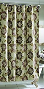 Croscill Home Fashions Portico Shower Curtain, 72 by 72-Inch, Heather