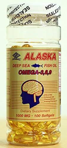 NuHealth Alaska Deep Sea Fish Oil Omega-3,6,9 (1000mg, 100 softgels)