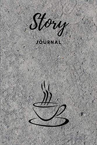 "Story Journal: Composition Notebook Half Wide Ruled Lines Half Unruled Drawing Space 6""x9"" Sketch blank Work book gift for family friends and loved ones Coffee Sand Pattern Cover by Katty Publishing"