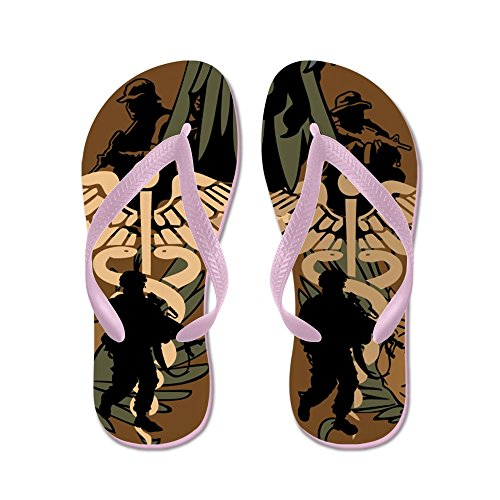 CafePress Us Military Medicine Combat - Flip Flops, Funny Thong Sandals, Beach Sandals Pink