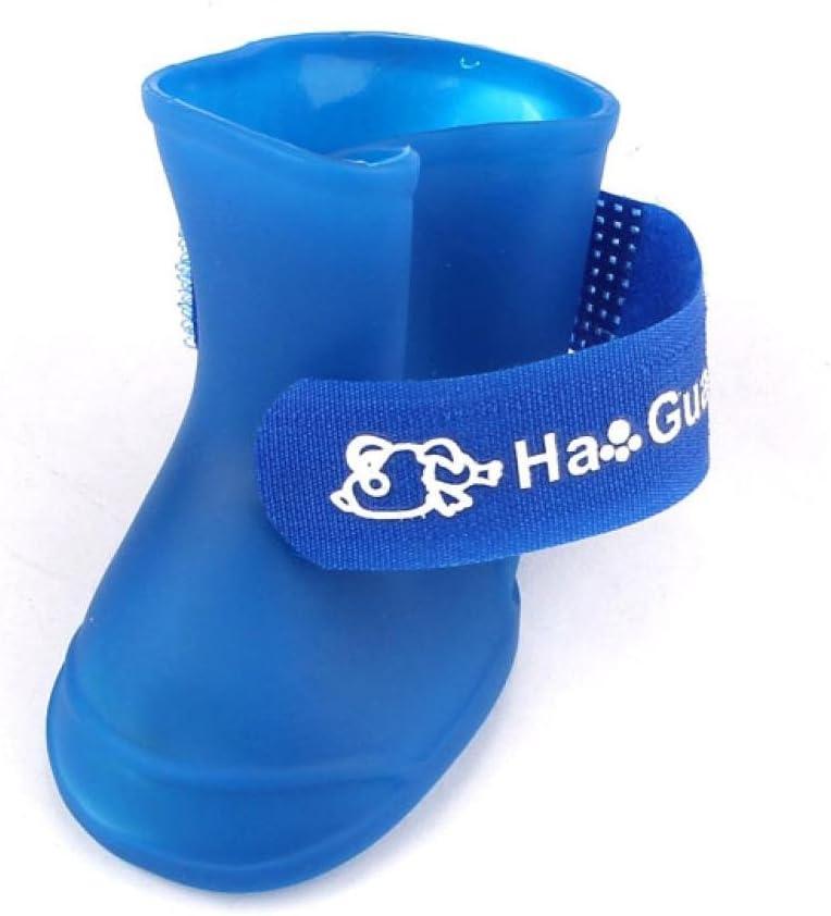 L2, Blue Dumanfs Cute Little Pet Dog Puppy Rain Snow Boots Shoes Booties Candy Colors Rubber Waterproof Anti-Slip