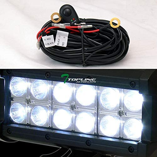 36W CREE LED Fog Lights For 99-04 Ford F250 F450 Topline Autopart Matte Black Studded Mesh Bull Bar Brush Push Front Bumper Grill Grille Guard With Skid Plate F550 Superduty//Excursion F350