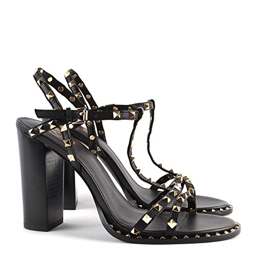en Daim Black Ash Sandales Footwear Chaussures Lips Femme Noir qqOA48