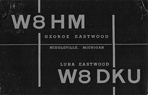 - Middleville Michigan W8HM Radio Station Advert Antique Postcard K54507