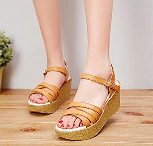 KUKI Sandalen erhöhen dicke Sandalen 1