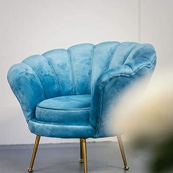 Casa-Padrino sillón de Terciopelo de diseño Azul Claro/latón ...