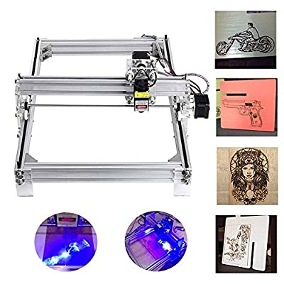 CNC Laser Engraving Machine Kit, MYSWEETY 500mW 30x40cm DIY Desktop Printer Logo Picture Marking, Wood Carving Engraving Cutting Machine for Leather Wood Plastic, 2 Axis