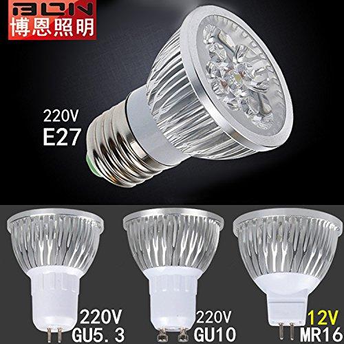 NIKU-copa de luz LED 220V Fuente de luz Gu5.3 Línea E27 3W4W MR16 12V Spotlight Gu10 Bombillas LED Fuente de luz,Gu5.3-220V-4W luz blanca: Amazon.es: ...