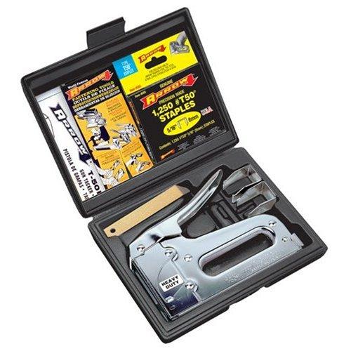 (Arrow Fastener T50VP Heavy Duty 5-Piece Staple Gun Kit)