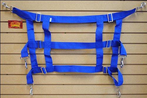 (HILASON Royal Blue Western Horse Poly Web Adjustable STALL Guard)