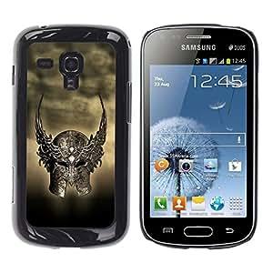Be Good Phone Accessory // Dura Cáscara cubierta Protectora Caso Carcasa Funda de Protección para Samsung Galaxy S Duos S7562 // Ancient Warrior Winged Helmet